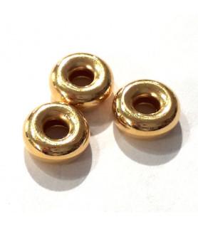 Hohlring 10 mm, Silber vergoldet  - 1