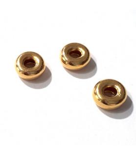 Hohlring 8 mm, Silber vergoldet  - 2