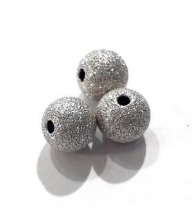 Kugel 8 mm, Silber rh diamantiert  - 1