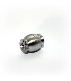 Magnetschließe Netz klein, Silber rhodiniert satiniert  - 1