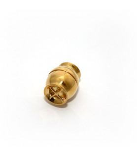 Magnetschließe Netz klein, Silber vergoldet  - 1