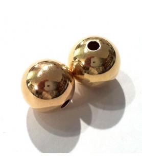 Kugeln 10 mm, 2 Stück, Silber vergoldet  - 1