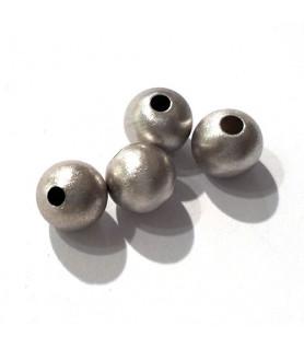 Kugeln 10 mm, 2 Stück, Silber rhodiniert matt  - 1