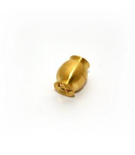 Magnetschließe Netz klein, Silber vergoldet satiniert  - 1