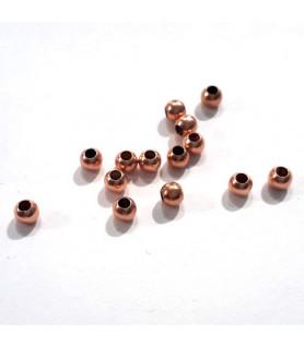 Kugeln 1,8 mm, 20 Stück, Silber rosé vergoldet  - 1