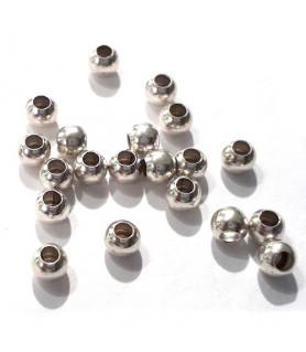 Quetschkugeln groß Silber, 20 Stück  - 2