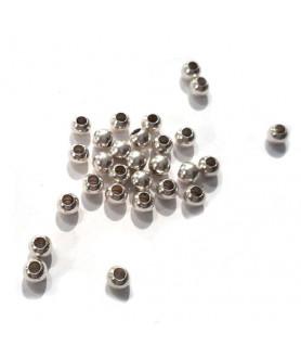 Quetschkugeln klein Silber, 100 Stück  - 2
