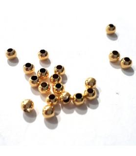 Quetschkugeln klein Silber vergoldet, 100 Stück  - 2