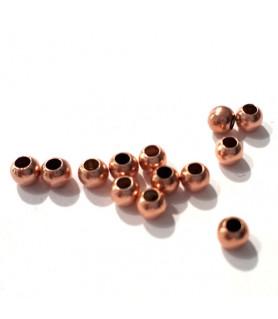 Quetschkugeln klein Silber rosé vergoldet, 20 Stück  - 1