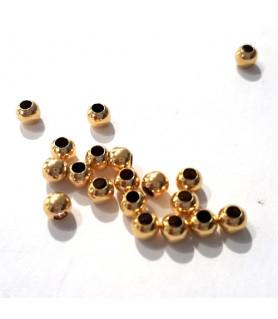 Quetschkugeln groß Silber vergoldet, 20 Stück  - 2
