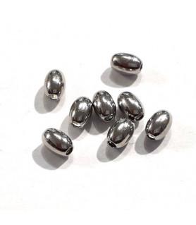 copy of Hohlringe 4,5mm, 10 Stück, Silber rhodiniert  - 1