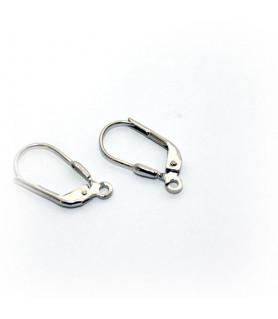 Klappbrisuren, Silber rhodiniert Steindesign - 1
