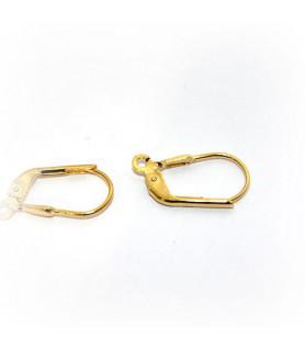 Klappbrisuren, Silber vergoldet Steindesign - 1