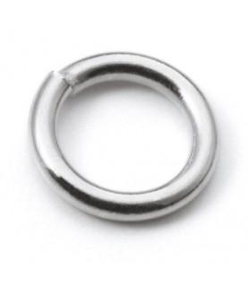 binding rings closed, silver  - 1