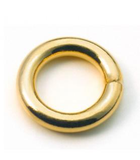 Binderinge geschlossen, Silber vergoldet  - 1