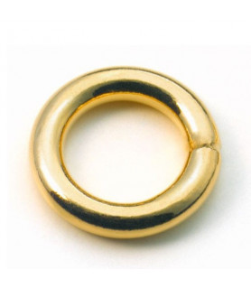 binding rings closed, silver gold plated  - 1