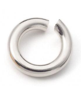 Binding rings open, silver  - 1