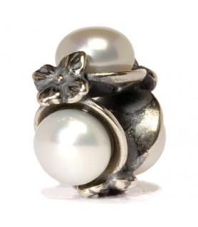 Dreifache Perle, weiß Trollbeads - das Original - 1