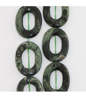 Eklogit, Strang oval mit Loch 22 x 30mm  - 1