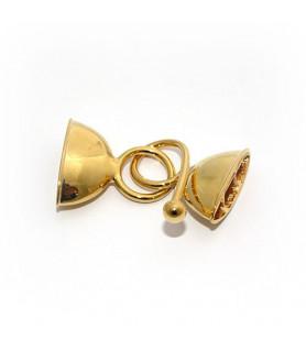 Doppelhaken oval groß, Silber vergoldet  - 1