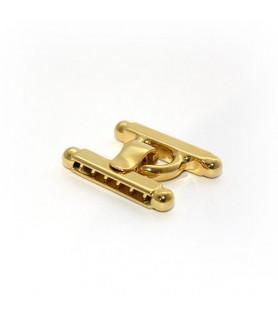 Stegschließe mittel, Silber vergoldet  - 1