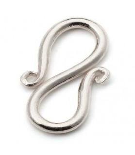 S-Schließe 12mm, Silber  - 1