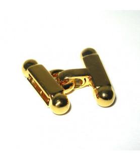 Stegschließe klein Silber vergoldet  - 1
