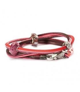 Trollbeads Leather Bracelet red/bordeaux - retired Trollbeads - das Original - 1