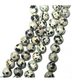 Dalmatian stone ball strand 8mm  - 1
