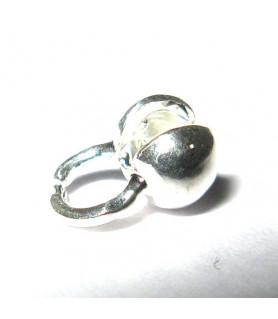 Folding ball 4mm silver  - 1