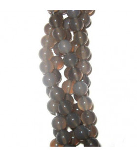 agate grey, ball strand 8mm  - 1