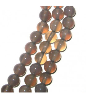 agate grey, ball strand 6mm  - 1