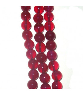 agate pink, ball strand 8mm  - 1
