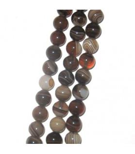 agate brown, ball strand 8mm  - 1