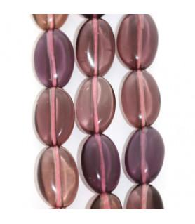 Fluorit violett, Strang oval 8 x 12mm  - 1