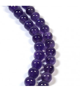 Amethyst, ball strand 10 mm  - 1