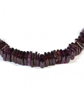 Gemstone necklace garnet square Steindesign - 2