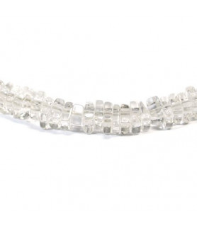 Gemstone necklace rock crystal square Steindesign - 2
