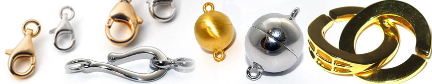 Clasps and carabiners for jewellery design