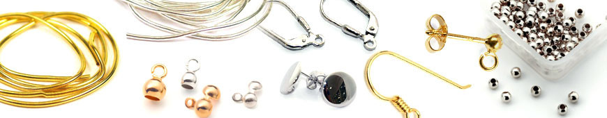 Semi-finished products and fittings for jewellery design