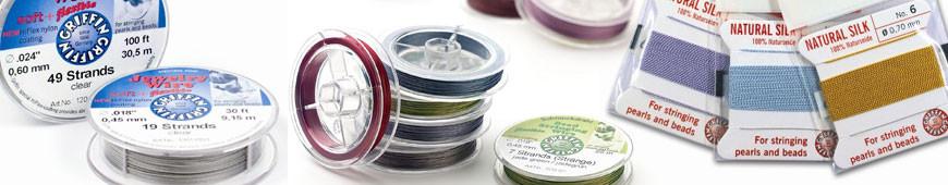 Aufreihmaterial und Perlseiden zum Schmuck und Ketten selber machen