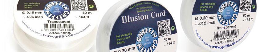 Aufreihmaterial - Nylon - Illusion Cord
