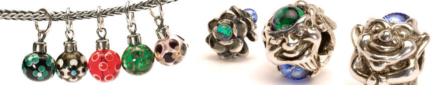 Trollbeads Beads in silver and glass