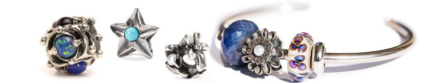 Trollbeads Beads in silver and stone